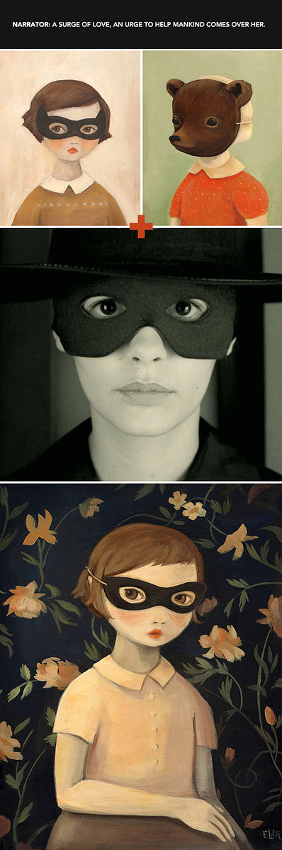 three images of women with eye masks