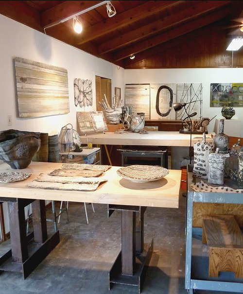 Photo of Brenda Holkze's art studio.