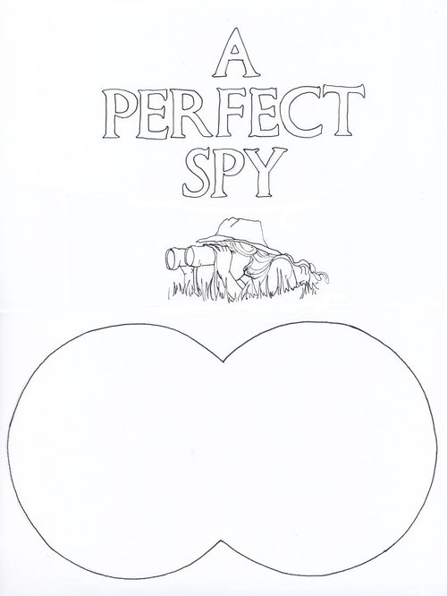 an illustration of a woman looking through binoculars. There is text that says a perfect spy written at the top.