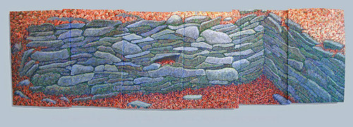 artwork that depicts a row of stones