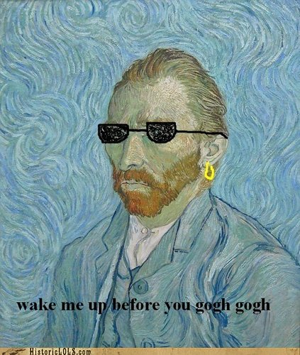 Vincent Van Gogh dressed as a George Michael