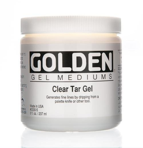 A tub of clear tar gel