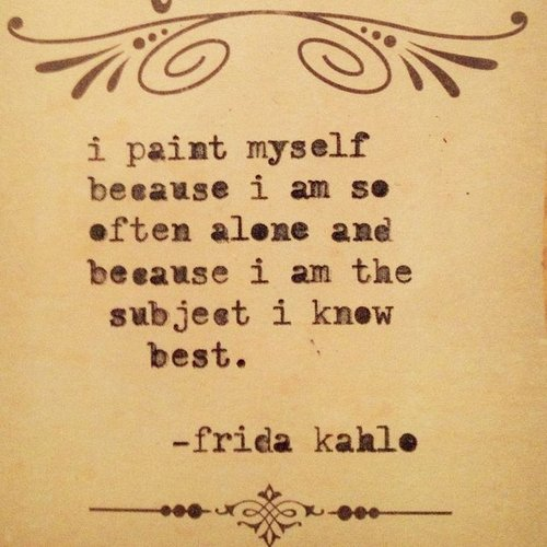 Quote by Frida Kahlo about self-portraits