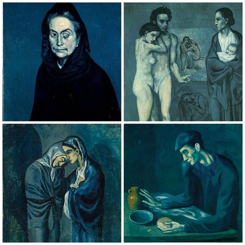 Images from the Picasso Blue Period