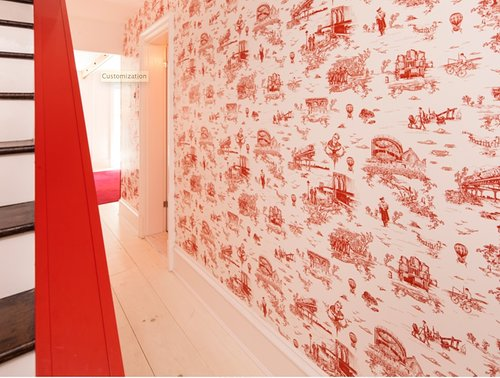 Brooklyn toil wallpaper in the home of Mike D
