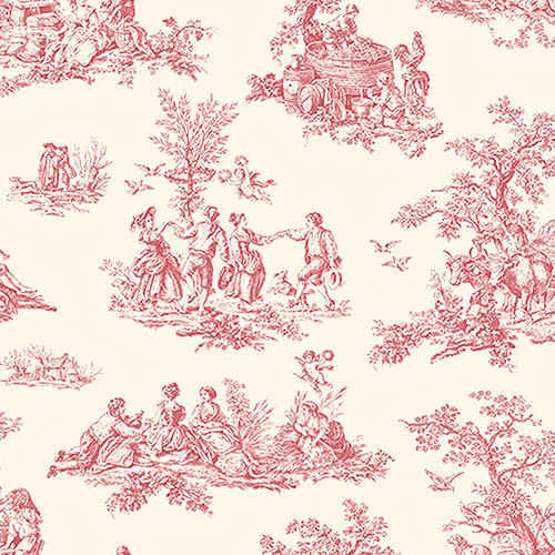 Traditional toile pattern