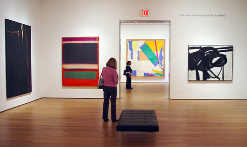 An interior view of the MOMA in New York