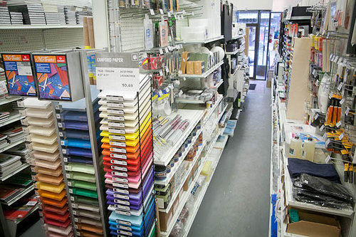 A photo of the interior of an art supply store