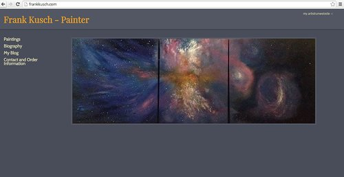 The front page of Frank Kusch's art website