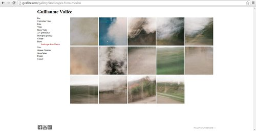 A website of abstract landscape photos by Guillaume Vallee