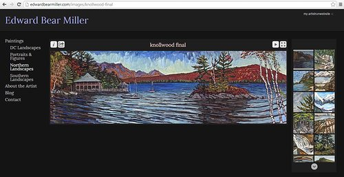 Edward Bear Miller's paintings on his website