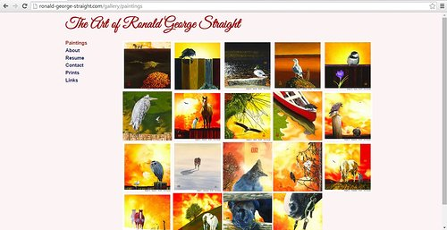 Ronald George Straight's website of paintings