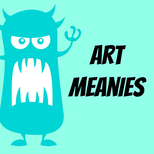 Art Meanies with picture of a monster growling