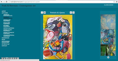 A screen capture of a painting gallery on Noah NJ Bowman's website