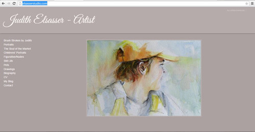 A screen capture of Judith Elsasser's art website