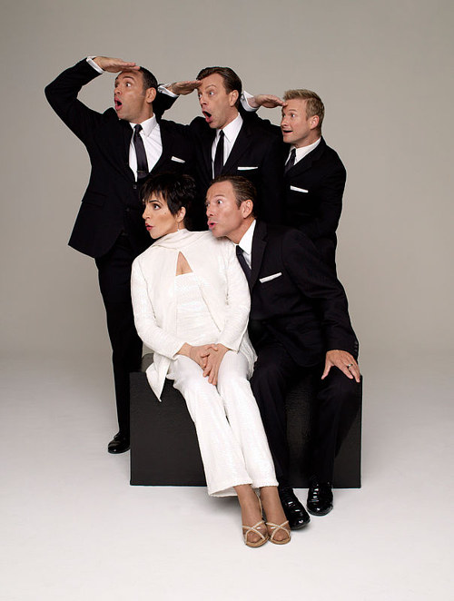 A promotional photo of Liza Minnelli surrounded by other performers