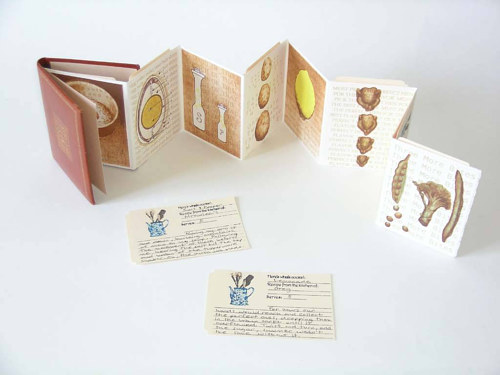 An artist's book about childhood designed as a folding pamphlet with inserts