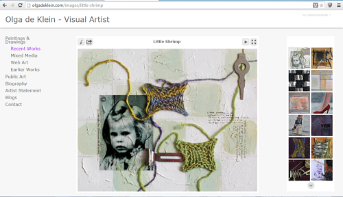 The mixed media gallery on Olga de Klein's website