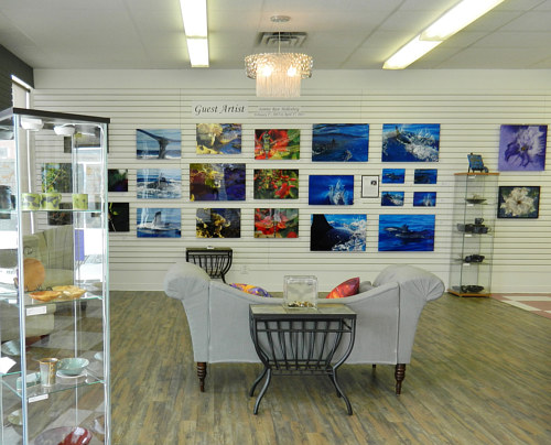An interior view of Jocelyn's Fine Art Gallery in Saskatchewan