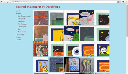 A screen capture of a painting gallery on David Faulk's website