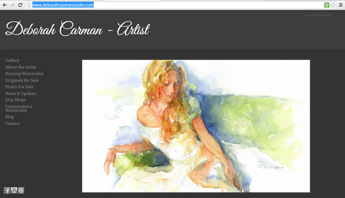 A screen capture of the front page of Deborah Carman's website