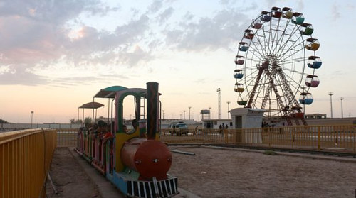 A photo of Ride City, one of ISIS' theme parks