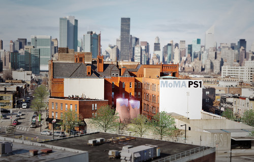 A photo of the exterior of MOMA PS1
