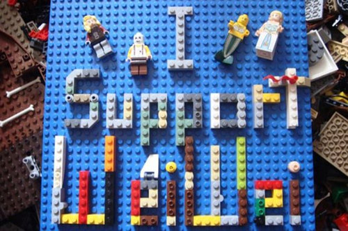 A Lego artwork made by a supporter of Ai Weiwei