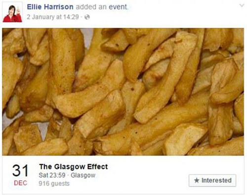 A Facebook screen capture of Ellie Harrison's The Glasgow Effect