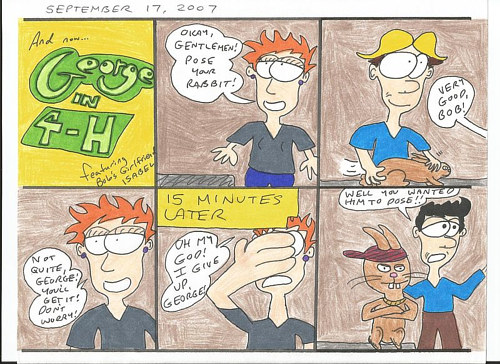 A Sam Meisner ccomic strip featuring the character George