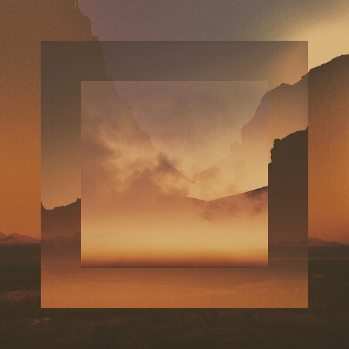 A digitally manipulated photo of an orange sky