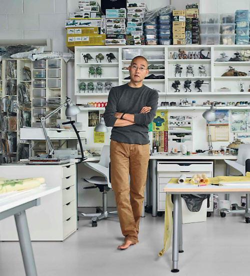 A photo of Do Ho Suh in his studio