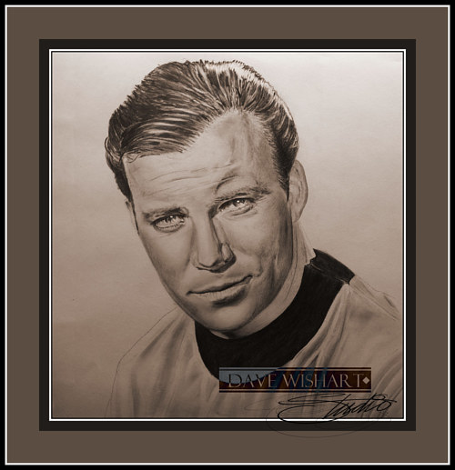 A portrait of William Shatner as James Kirk in Star Trek