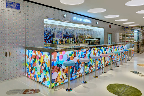 A photo of Damien Hirst's new restaurant, Pharmacy 2