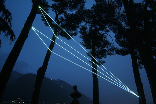A light installation by Carlo Bernardini