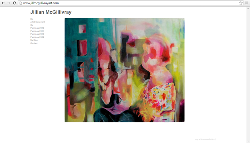 A screen capture of Jillian McGillivray's website