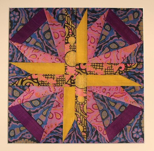Textile art of a star