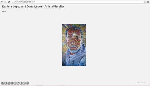 The front page of Daniel T. Lopez and Dano Lopez' website