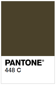 A swatch of Pantone 448c, the world's ugliest color