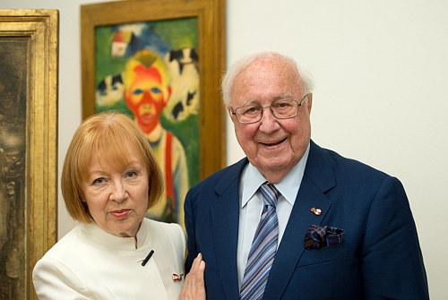 A photo of art collector Heiner Pietzsch with his wife, Ulla