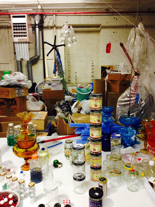 A photo of the interior of Tony Feher's studio