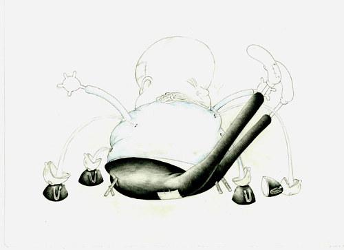 vintage cartoon aesthetics drawing by jeff ladouceur artist run