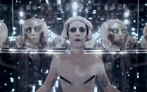 A still image from Lady Gaga's Born This Way video