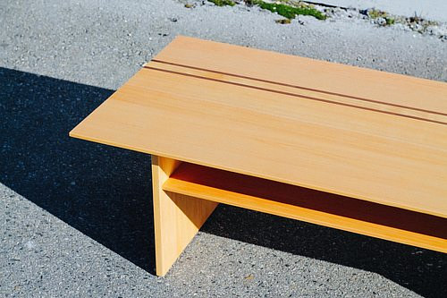 A modern coffee table piece