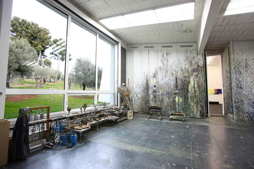 A photo of the studio interior of Hans Hartung