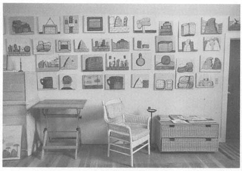A photo of Phillip Guston's art studio