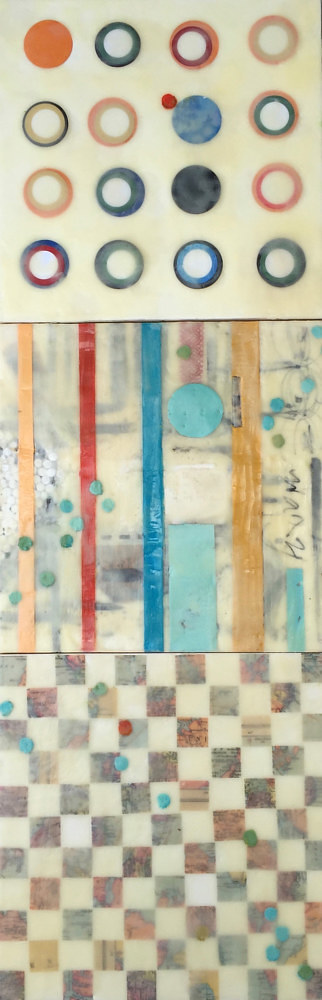 A triptych of encaustic paintings