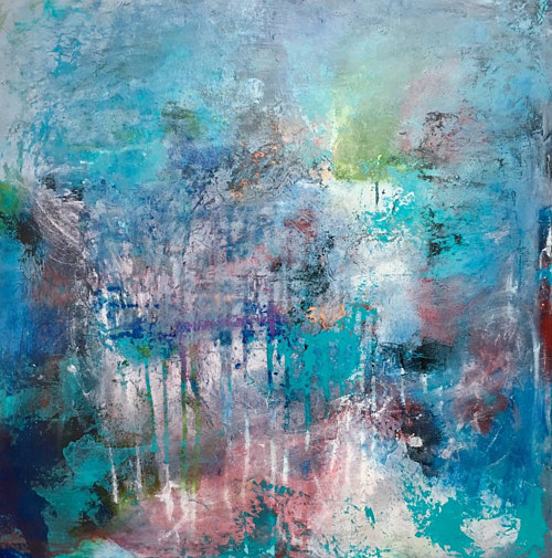An abstract painting by Mike Salcido
