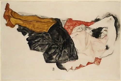 Woman Hiding Her Face by Egon Schiele, 1912