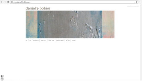 A screen capture of the front page of Danielle Bobier's art website